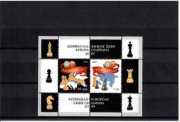 Azerbaijan 2009. European Chess Champion(Map). S/S Of 2v: 0.50, 1.   Michel # BL 87 - Azerbaïjan