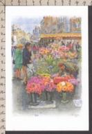 94027GF/ Illustrateur Noël LERICHE, *Namur, Marché Aux Fleurs Place De L'Ange* - Künstlerkarten