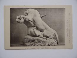 N°15 Série Carte COMBAT De PANTHERES Par GARDET Sculpture Statue  Edition Thiébaut Fumière Successeur - Sculptures
