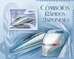 Guinea-Bissau, 2012. [gb12110] Japanese Speed Tarins, (700 Serie Shinkansen, E3). (blocks+s\s) - Trains
