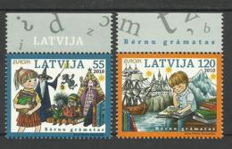 LATVIA 2010  EUROPA  CHILDRENS BOOKS MNH - Europa-CEPT