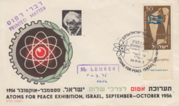 Enveloppe   ISRAEL   ATOMS  FOR  PEACE  EXHIBITION   1956 - FDC