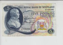 AB305 Royal Bank Of Scotland Plc £5 Note 1 March 1967 #J/4 128396 FREE UK P+PBUY 1 GET 1 (CHEAPEST) 1/2 PRICE BANKNOTES - [ 3] Scotland