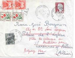 Lettre Taxe Brout Vernet Allier - 1960-.... Lettres & Documents