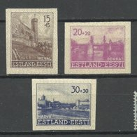 Estland Estonia 1941 German Occupation Michel 4 - 6 U (*) - Estonia