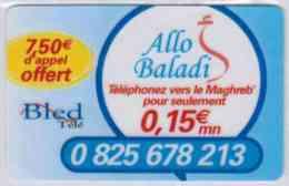 Bled Télé - Allo Baladi - 7,50 € D'appel Offert - Code Gratté - Voir Scans - France