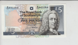 AB317ARoyal Bank Of Scotland Plc £5 Note 23 March 1994 #B/23 941064 FREE UK P+PBUY 1 GET 1 (CHEAPEST) 1/2 PRICE BANKNOTE - 5 Pounds