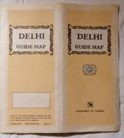 OLD PROSPEKT GUIDE VERY + LARGE MAP OF NEW DELHI INDIA BROCHURE 1967. - Techniek