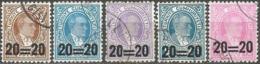 Turkey 1959 - Mi. 1627-31 O, Postage Stamps. Postage Due MiNr. 57-61 - 1921-... República