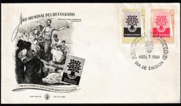 N 506) Argentinien 1960 Mi# 720-721 FDC: Weltflüchtlingsjahr, Flüchtlinge - Geschichte