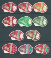 Sierra Leone 1967 Cola Nut Self Adhesives White & Coloured Value Tablet Selection Of 11 Fine MLH - Sierra Leona (1961-...)