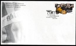 N 502) Kanada 1995 Mi# 1526 FDC: Gedenken An Den Holocaust 1933-1945, Shoah - Geschichte