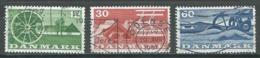 Danemark YT N°386/388 Agriculture Oblitéré ° - Denmark