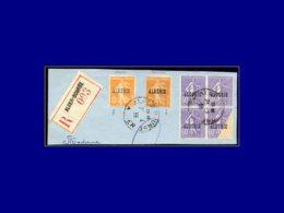ALGERIE Poste  - 24, Bloc De 4, Grand Manque D'impression Sur 1 Timbre, Sur Fragment 21/2/39 - Algeria (1924-1962)