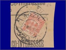 "MAROC POSTES CHERIFIENNES Poste O - 12, Sur Petit Fragment, Grand Cachet 14 Mars ""Arzila"" - Marokko (1891-1956)"
