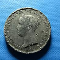 Portugal 500 Reis 1841 Silver Bad Grade - Portogallo