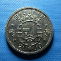 Portuguese Guiné 20 Escudos 1952 Silver - Portugal