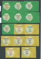 Sierra Leone 1964 New York World Fair Imperf Self Adhesive Set 14 Fresh Marginal MLH - Sierra Leone (1961-...)