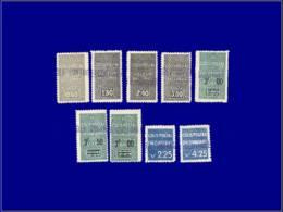 ALGERIE Colis Postaux * - 55/63, Complet, Contrôle. (Maury 67/2 + 80/81) - Cote: 229 - Algeria (1924-1962)