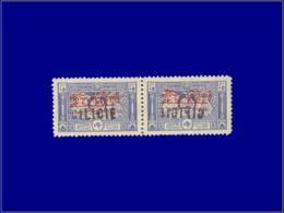 CILICIE Poste * - 24, Paire Horizontale, 1 Exemplaire Surcharge Renversée: 50p. Bleu. (Maury 25) - Cote: +100 - Cilicien (1919-1921)