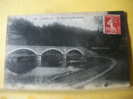 50 7281 RARE CLICHE ERREUR LEGENDE CPA - 50 SAINT LO. LE PONT DE LA BISSONNIERE. EDIT. M P. N° 182. BARQUE PECHEURS - Saint Lo