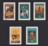 Australia 1995 Centenary Of Cinema Set Of 5 Self-adhesives Used - 1990-99 Elizabeth II