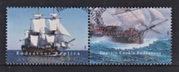 Australia 1995 Endeavour Replica  Captain Cook Set Of 2 Used - 1990-99 Elizabeth II