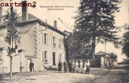 VERNEUIL-LA-COTE PLACE DE LA POSTE ANIMEE ( PLI HAUT DROIT) 87 - Francia