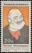 Czechoslovakia / Stamps (1968) 1722: Ernest Hemingway (1889-1961), UNESCO; Painter: A. Hoffmeister - UNESCO