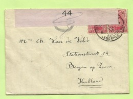 138 Op Brief PMB 4 -> Bergen Op Zoom (Holland) Strookje CENSURE MILITAIRE 44 (ROSE !!) + C.F.(Folkestone) (K5149) - Army: Belgium