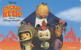 Télécarte NEUVE Japon / MF-1002731 - DISNEY RESORT - Film - CHICKEN LITTLE - Japan MINT Movie Phonecard / Poussin Chick - Disney