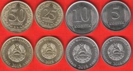 NEW! Transnistria Set Of 4 Coins: 5 - 50 Kopeek 2019 UNC - Moldawien (Moldau)