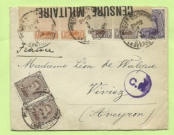 135+136+139 Op Brief PMB  -> VIVIEZ (France) Strookje CENSURE MILITAIRE 2 + CENSUUR + C.F.(Folkestone) (K5289) - Army: Belgium