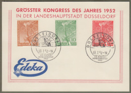 "Berlin: Sonderkarte, Mi.-Nr. 88-90 SST: "" EDEKA-Verbandstag Düsseldorf 1952 ""     X - Gebraucht"