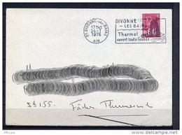 Lil3Q91 Ain Divonne Les Bains Secap O= Thermal Ouvert Toute L'année /Lettre 24/07/1976 - Storia Postale
