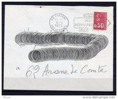 Lil3R71 Pas De Calais Frévent Secap O= N340 Route Des Villages Fleuris / Lettre 06/05/1972 - Storia Postale