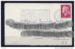 Lil3U04 Alpes Maritimes Roquebrune Cap Martin Secap =o Climat Printanier/ Lettre 24/01/1970 - Storia Postale