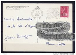 Lil3U05 Alpes Maritimes Roquebrune Cap Martin Secap O= Climat Printanier/ CP 25/08/1976 - Storia Postale