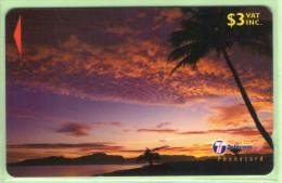 """Fiji - 2000 Dawn & Dusk - $3 Clouds - """"31FKB"""" - FIJ-161a - VFU - Fiji"""