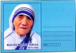 MOTHER TERESA-SOUVENIR CARD-UNSTAMPED-BX1-397 - Mutter Teresa