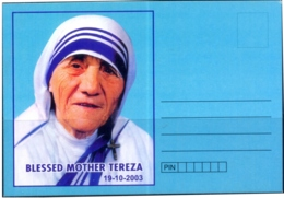 MOTHER TERESA-SOUVENIR CARD-UNSTAMPED-BX1-397 - Mother Teresa