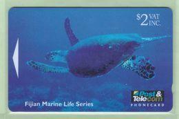 Fiji - 1995 Marine Life - $2 Hawkesbill Turtle - FIJ-052 - Mint - Fiji