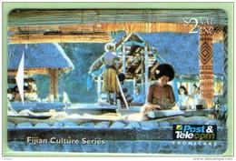 Fiji - 1994 Culture - $2 Tapestry - Control No Error - FIJ-036a - VFU - Fiji
