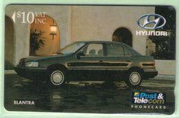 Fiji - 1992 Martin Motor Co - $10 Hyundai Elantra - FIJ-010 - VFU - Fiji