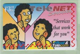 Fiji - 1995 Telenet Services - $3 Conference Calls - FIJ-064 - Mint - Fiji
