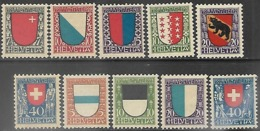 Switzerland   1920-2 Pro Juvenate Sets MLH  2016 Scott Value $32.15 - Unused Stamps