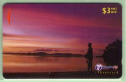 """Fiji - 2000 Dawn & Dusk - $3 Man - """"32FIB"""" - FIJ-160b - VFU - Figi"""