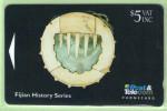 Fiji - 1994 Artifacts - $5 Breastplate- FIJ-026 - VFU - Figi