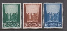 Vatican City S 84-86 1944 Pro War Prisoner,dated 1943,mint Hinged - Vatican