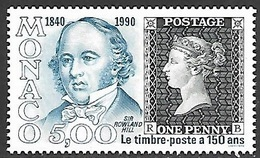 Monaco  1990  Sc#1705  5fr Penny Black  MNH  2016 Scott Value $2.75 - Monaco